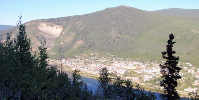 Dawson CIty from above